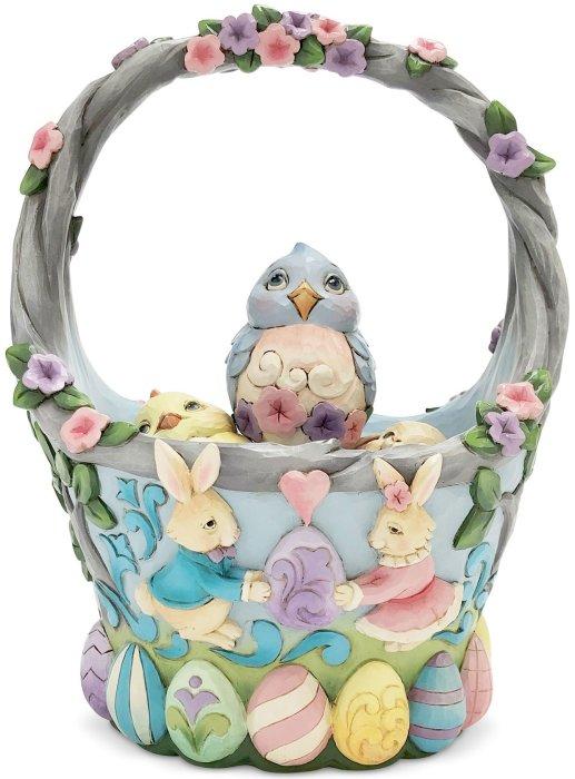 Jim Shore 6006990 Set-5 Easter Basket Figurine