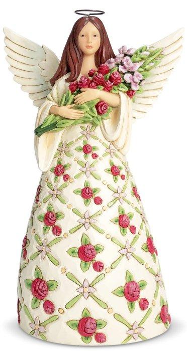 Jim Shore 6007124 Red Roses Angel Figurine