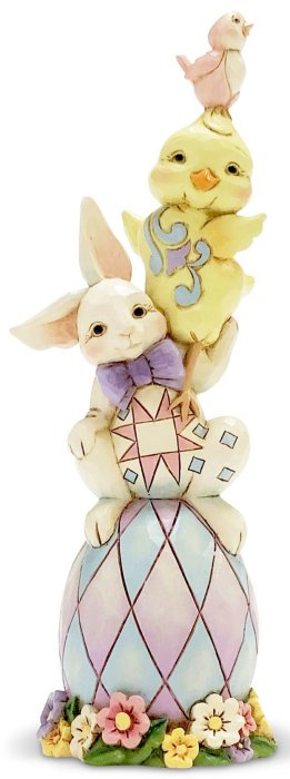 Jim Shore 6007164 Stacked Easter Pint Size Figurine