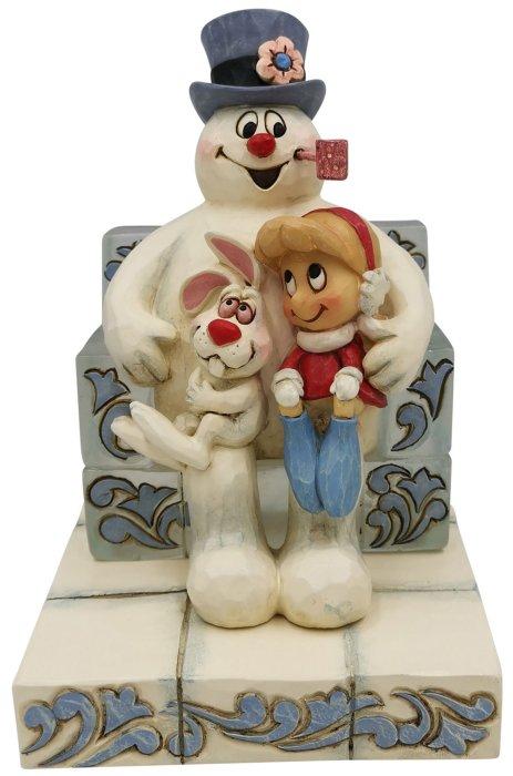 Jim Shore Frosty 6007343 Frosty Sitting on Ice Figurine