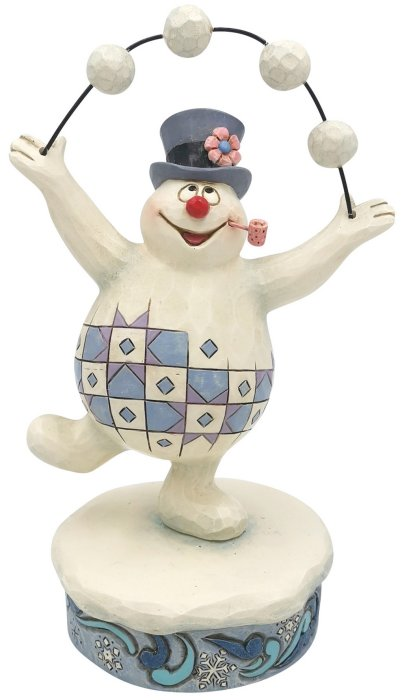 Jim Shore Frosty 6007344N Frosty Juggling Snow Figurine