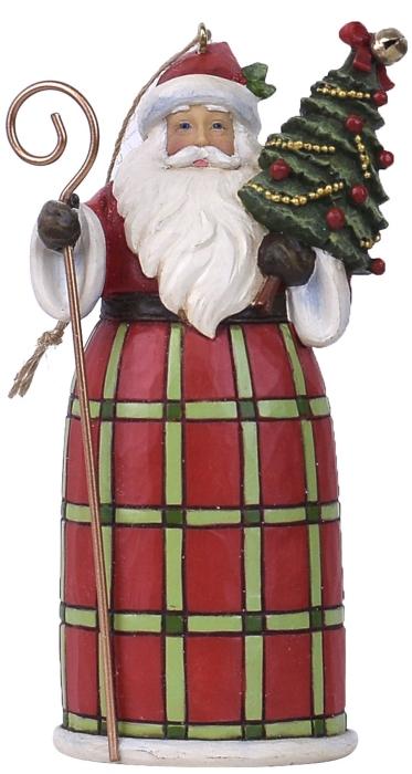 Jim Shore 6007451 Santa with Tree Ornament