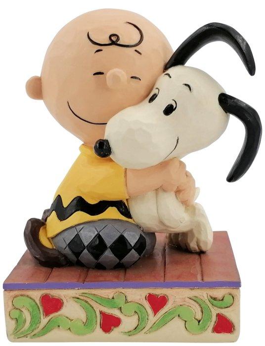 Jim Shore Peanuts 6007936N Charlie Brown & Snoopy Hugging Figurine