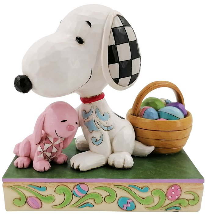 Jim Shore Peanuts 6007938 Snoopy with Easter Basket Figurine
