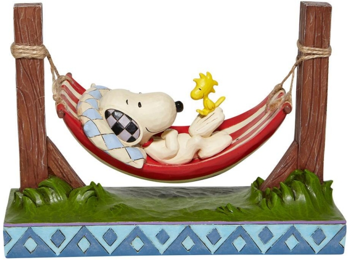 Jim Shore Peanuts 6007939 Snoopy and Woodstock Hammo