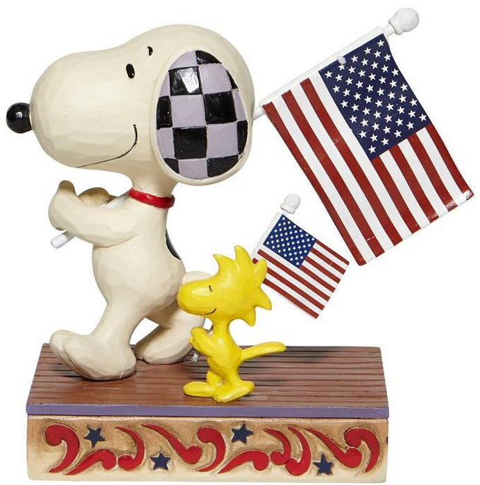 Jim Shore Peanuts 6007960 Snoopy and Woodstock March