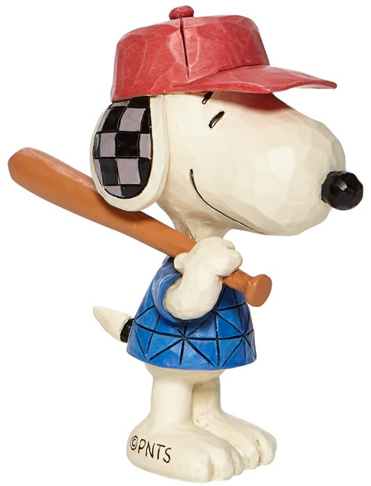 Jim Shore Peanuts 6007961N Mini Snoopy Baseball Figurine