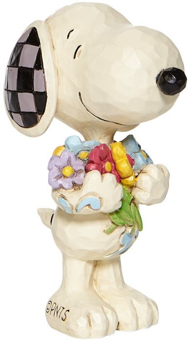 Jim Shore Peanuts 6007962 Mini Snoopy with Flowers Figurine