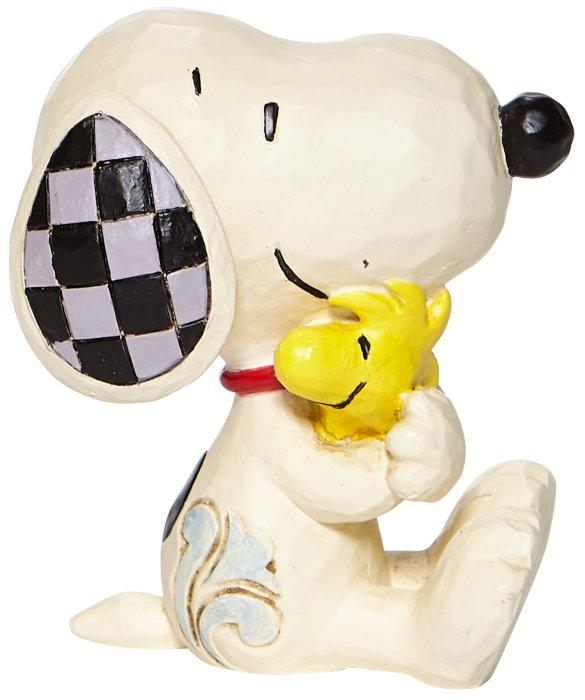 Jim Shore Peanuts 6007963N Mini Snoopy and Woodstock Figurine
