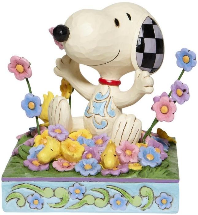 Jim Shore Peanuts 6007965 Snoopy in flowers Figurine