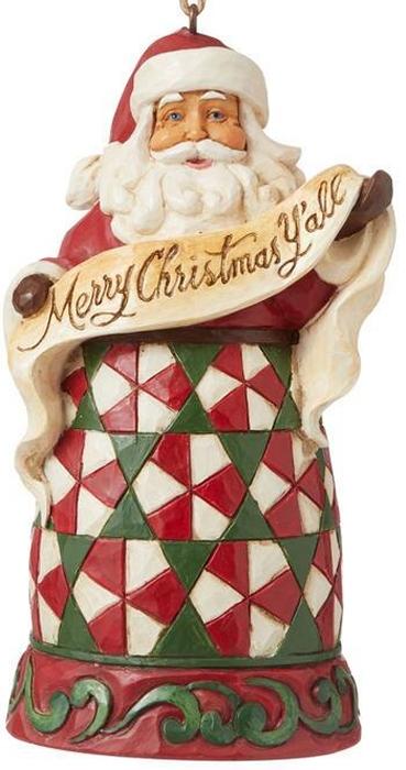 Jim Shore 6008098N Merry Christmas Y'all Ornament