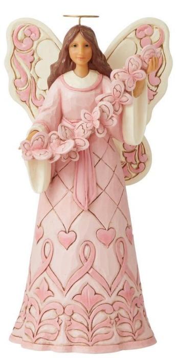 Jim Shore 6008100N Pink Angel and Butterflies Figurine
