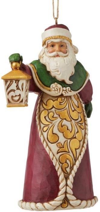 Jim Shore 6008128 Santa with Lantern Ornament