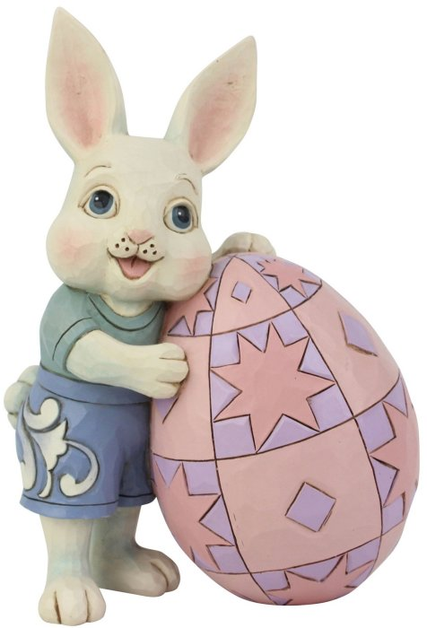 Jim Shore 6008407 Boy Bunny with Egg Figurine