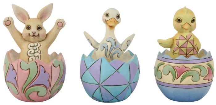 Jim Shore 6008409 Mini Easter Eggs 3 Figurine