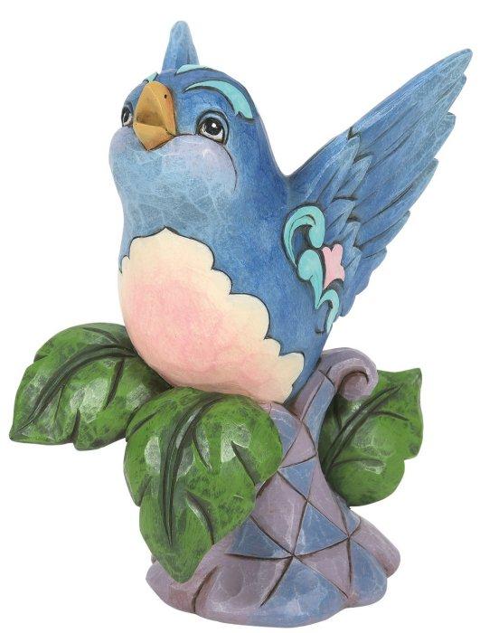 Jim Shore 6008418 Bluebird On Branch Figurine