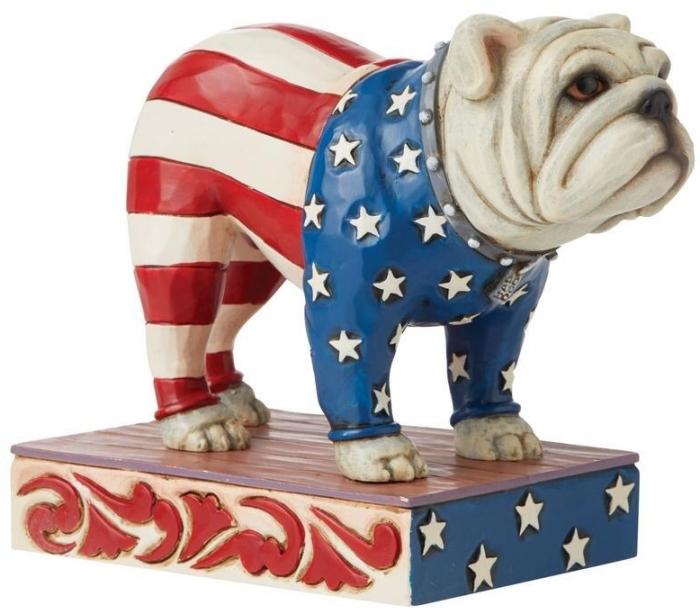 Jim Shore 6008788 Patriotic Bulldog Figurine