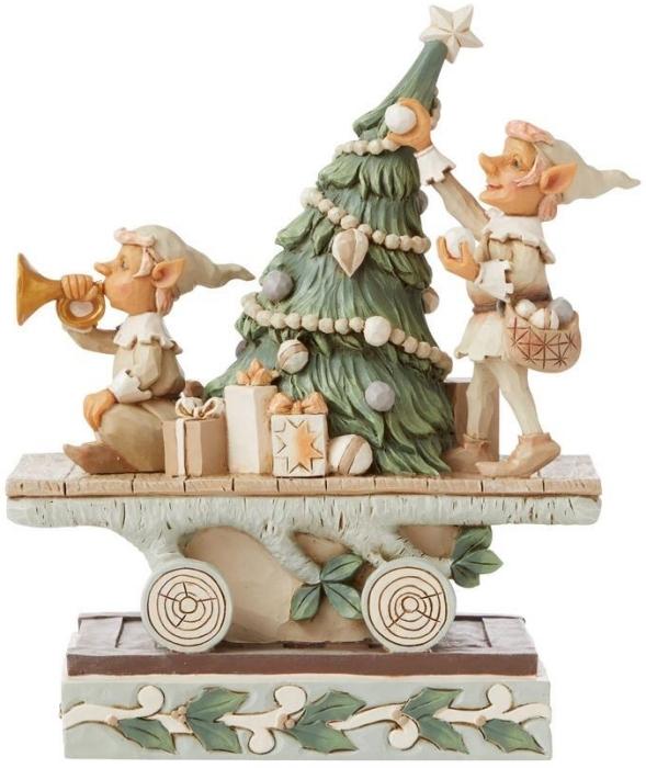 Jim Shore 6008859N Woodland Elves and Tree Figurine