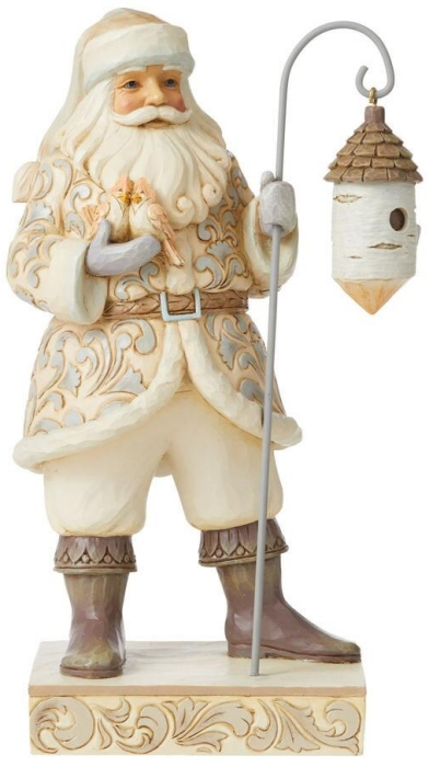 Jim Shore 6008860N Woodland Santa and Birch Figurine