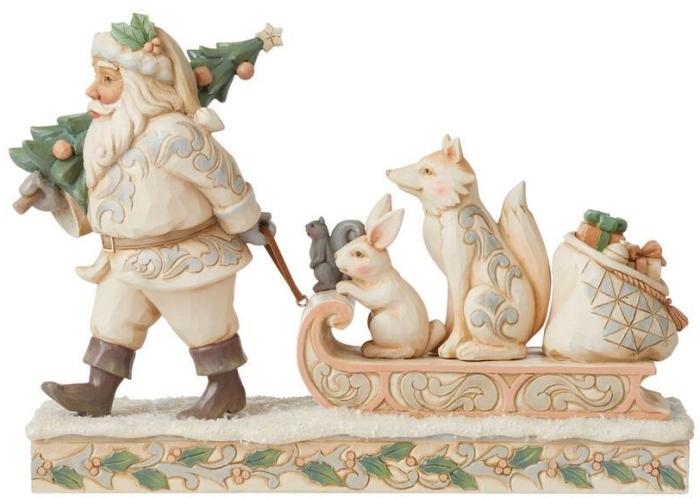 Jim Shore 6008861N Woodland Santa and Animals Figurine