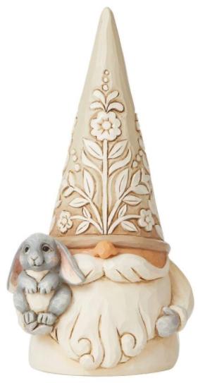 Jim Shore 6008865 Woodland Gnome Holding Bunny Rabbit Figurine