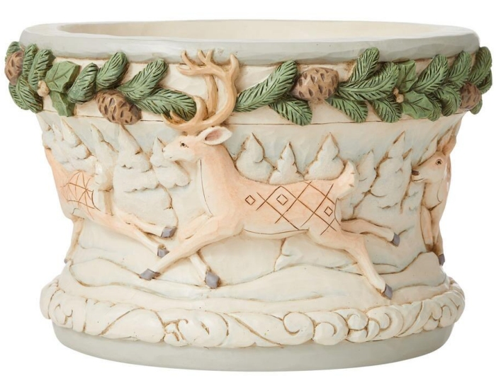 Jim Shore 6008872N Woodland Decorative Bowl