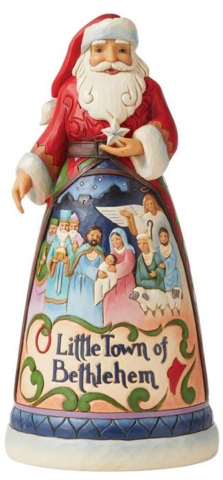Jim Shore 6008873N O' Little Town Santa Figurine