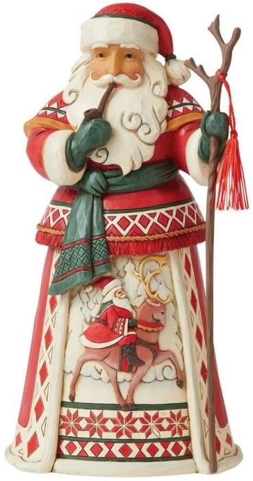 Jim Shore 6008874 Lapland Santa and Reindeer Figurine