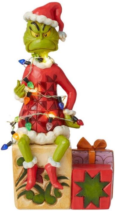 Jim Shore Grinch 6008887N Grinch on Present Figurine