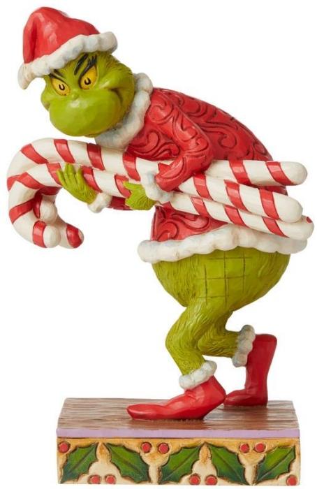 Jim Shore Grinch 6008888N Grinch Stealing Candy Cane Figurine