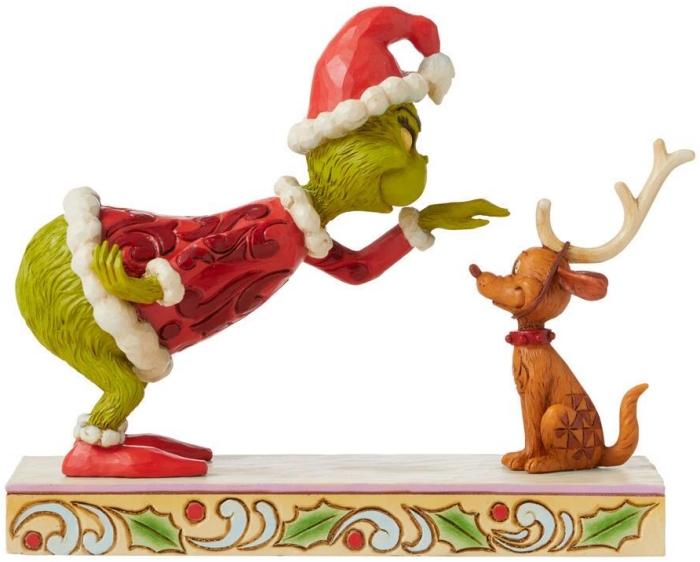 Jim Shore Grinch 6008889N Grinch Petting Max Figurine