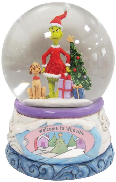 Jim Shore Grinch 6008892N Grinch and Max Waterball