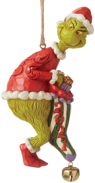 Jim Shore Grinch 6008894 Grinch Dated Stocking Ornament
