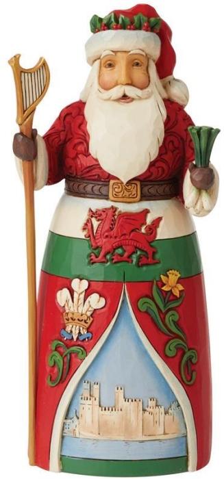 Jim Shore 6008913 Welsh Santa Figurine