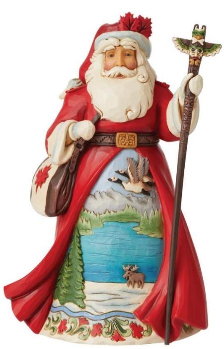 Jim Shore 6008915N Canadian Santa Figurine
