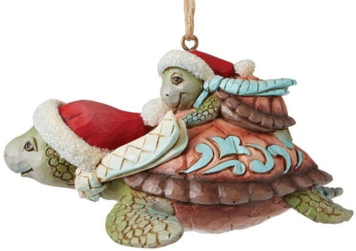 Jim Shore 6008937N Christmas Sea Turtle Ornament