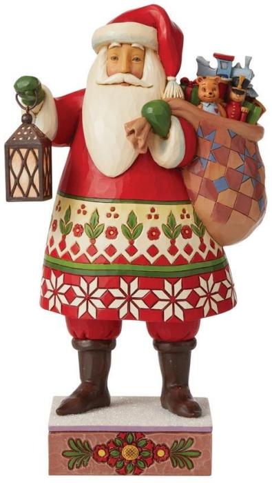 Jim Shore 6008940N Santa with Lantern Figurine