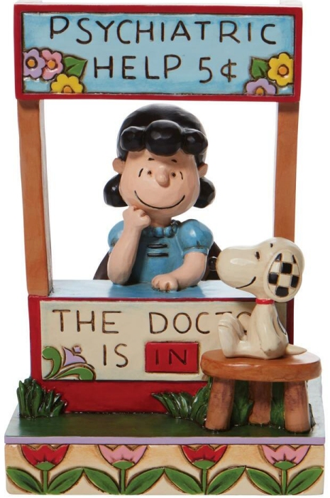 Jim Shore Peanuts 6008971 Lucy at Psychiatric Booth Figurine