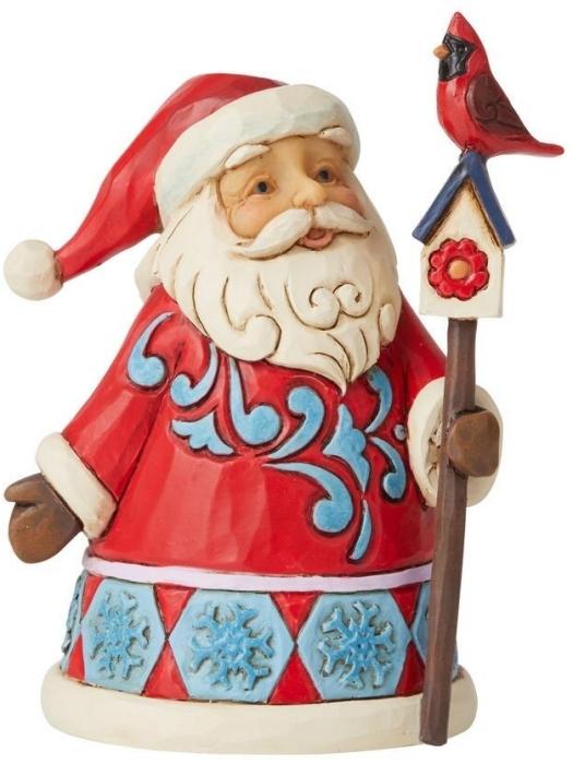 Jim Shore 6009010N Santa with Cardinal Figurine