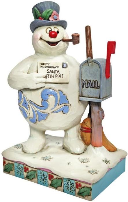 Jim Shore Frosty 6009107 Frosty Next to Mailbox Figurine