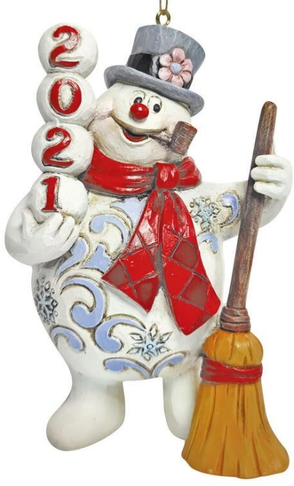 Jim Shore Frosty 6009109N Frosty Dated 2021 Ornament