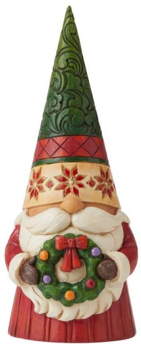 Jim Shore 6009182N Christmas Gnome With Wreath Figurine