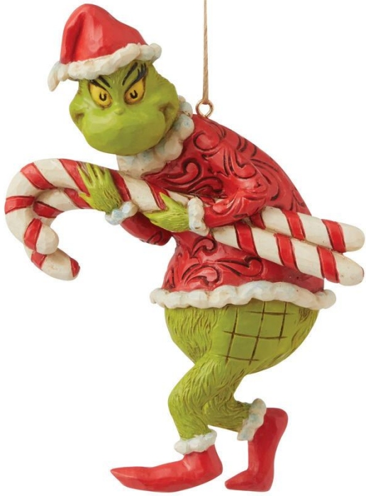 Jim Shore Grinch 6009206N Grinch Stealing Candy Cane Ornament