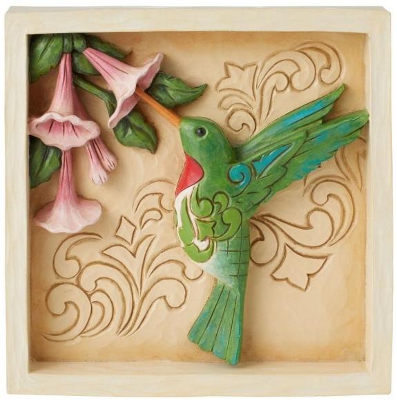 Jim Shore 6009334 Hummingbird Plaque
