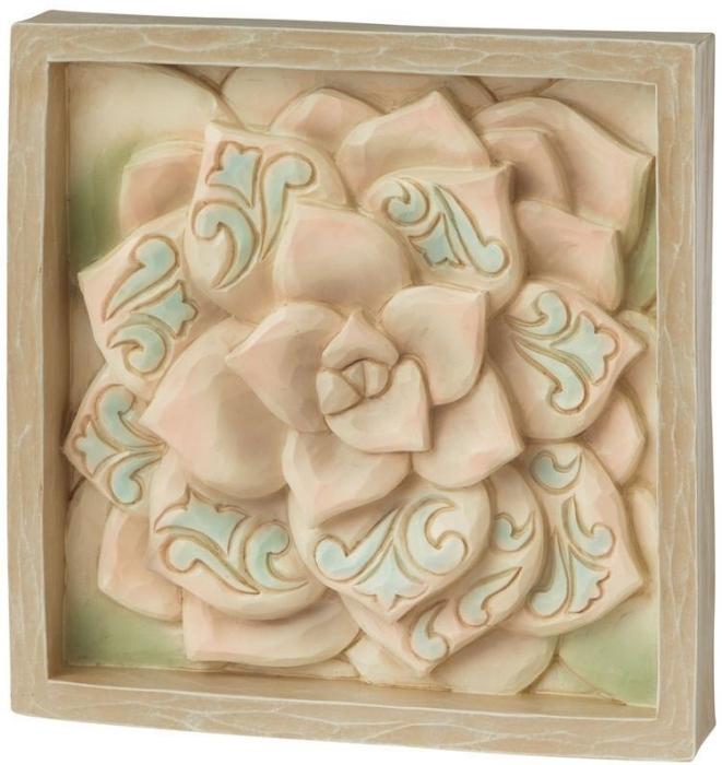Jim Shore 6009335 Flower Plaque