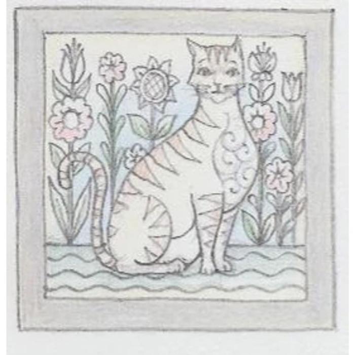 Jim Shore 6009337 Yellow Cat Plaque