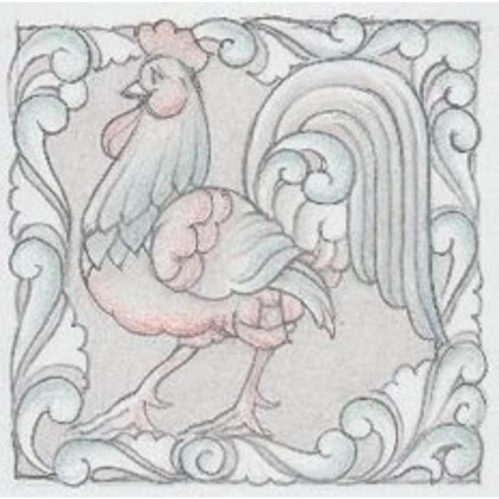 Jim Shore 6009339 Rooster Plaque