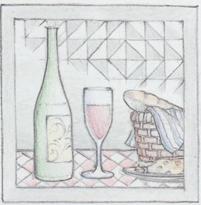 Jim Shore 6009341 Wine Plaque