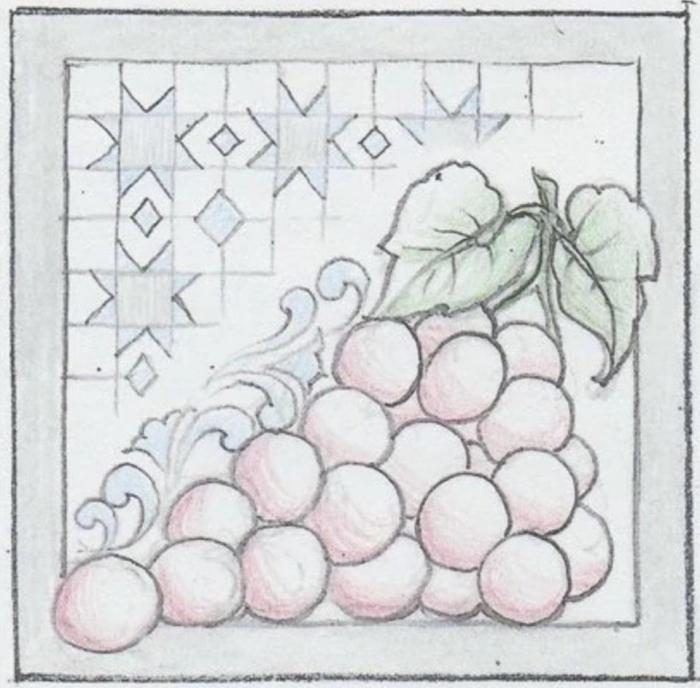 Jim Shore 6009342 Grapes Plaque