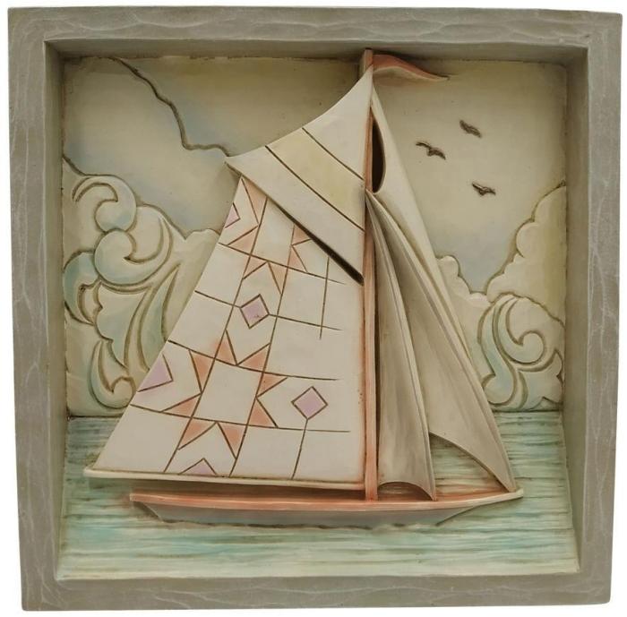 Jim Shore 6009343N Sailboat Plaque